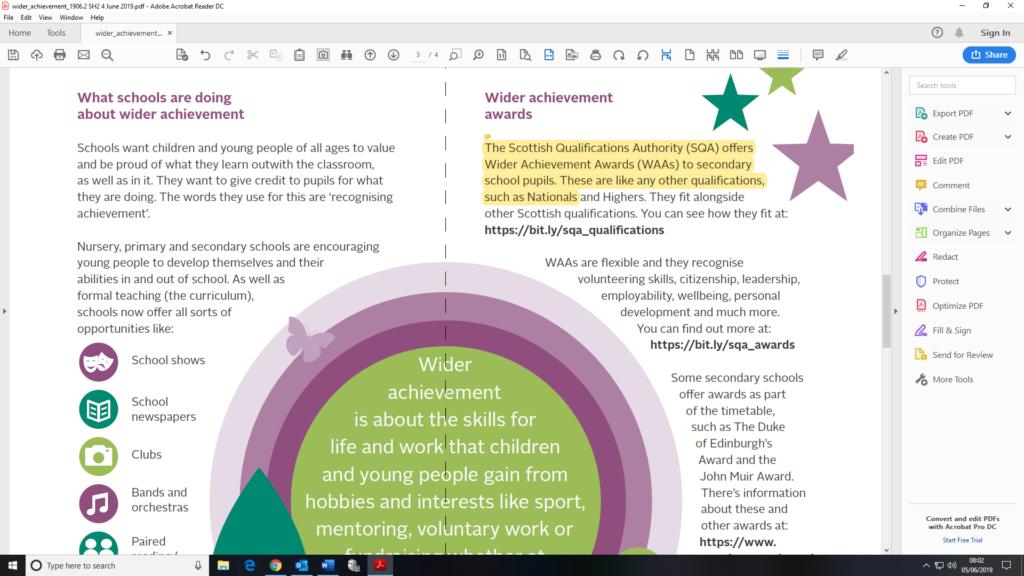 screenshot of editing a document